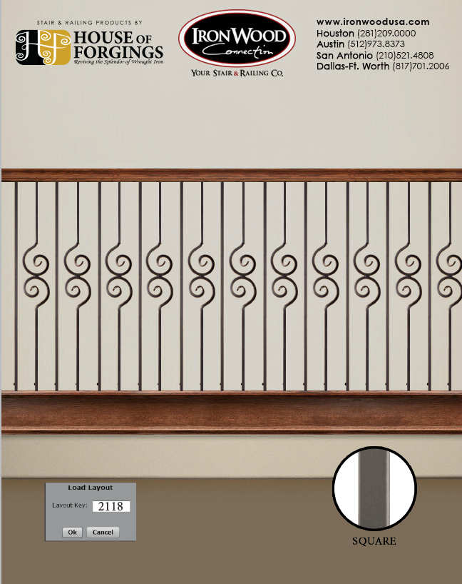 popular iron baluster patterns organized by series ironwood
