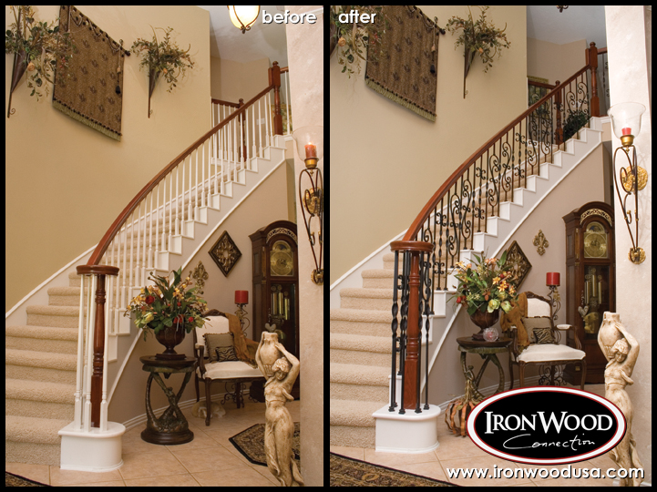 Stair Remodeling Services Design Installation Ironwood Connection Stair Railing Company
