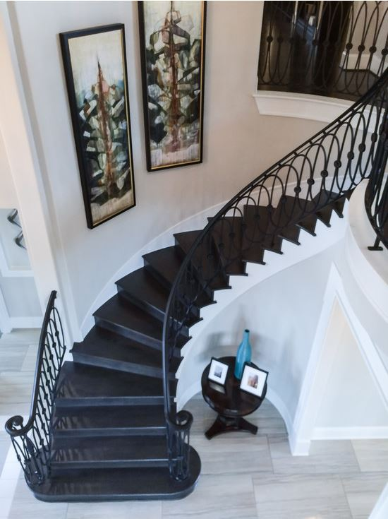 Custom Iron Staircase Ironwood Connection Stair