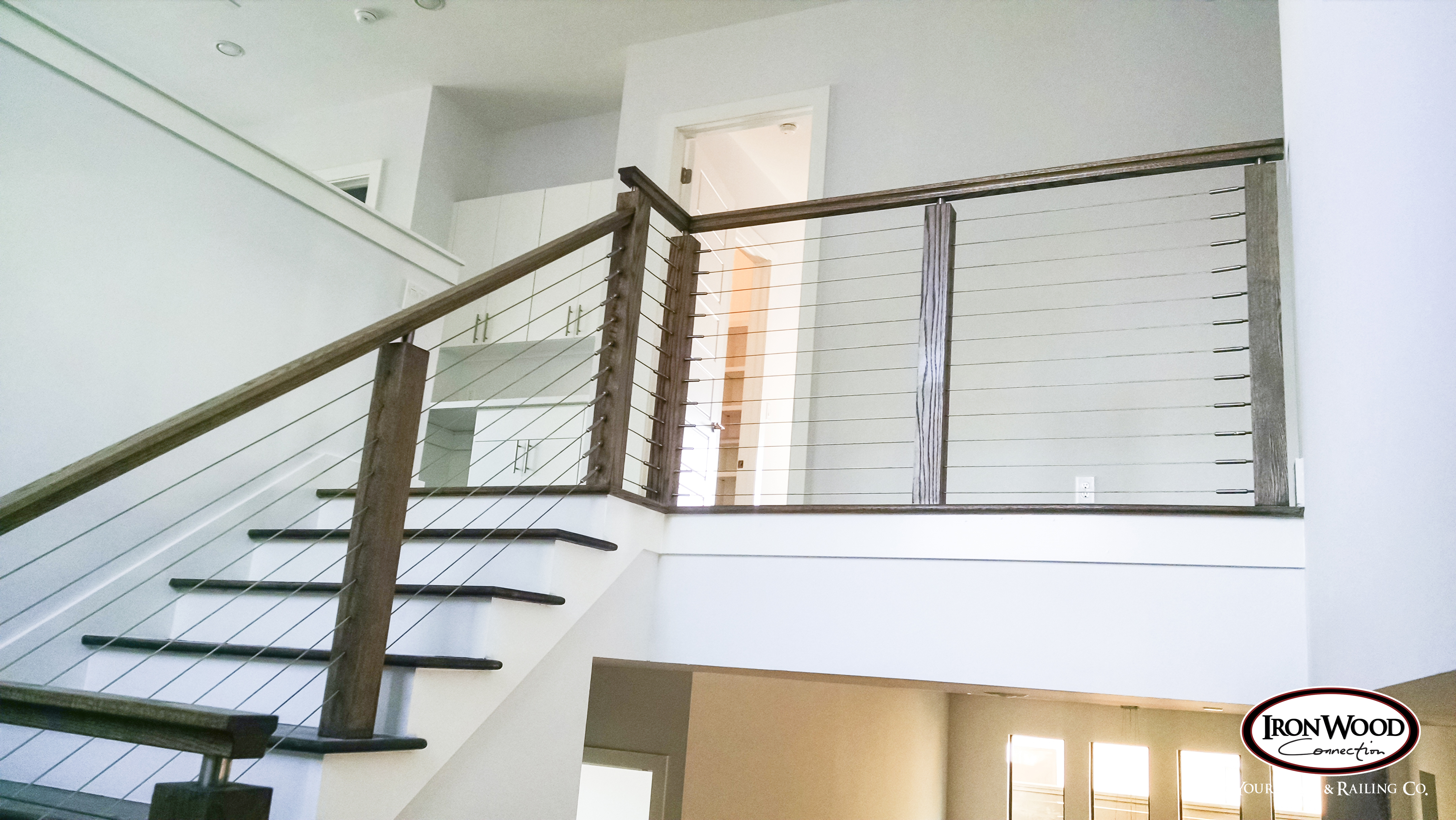 Glass Amp Cable Staircase Ironwood Connection Stair