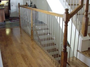 Contemporary Stainless Steel Stair Remodel