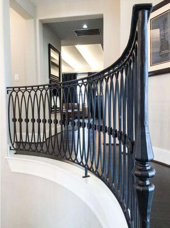 Custom Iron Staircase & Railing Idea Photo Gallery ...